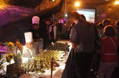 Un buffet dans les caves