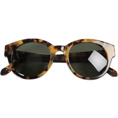 Karen Walker Anywhere Sunglasses in Tortoise Shell ($295) ❤ liked on Polyvore