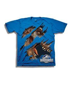 Love this Royal Blue Jurassic World Crewneck Tee - Boys by Jurassic World on #zulily! #zulilyfinds