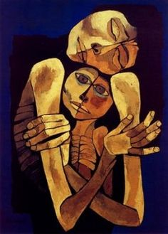 Oswaldo Guayasamin - La Maternidad, 1986