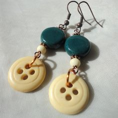 button earrings | Request a custom order and have something made just for you.