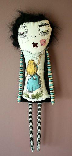 Alice in Wonderland- Art doll PLush- By ThEm DoLLZ