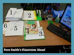 Organization ~ Leaving Your Desk Ready for a Substitute Teacher When You Know You Will Be Absent. #TeachersFollowTeachers #FernSmithsClassroomIdeas