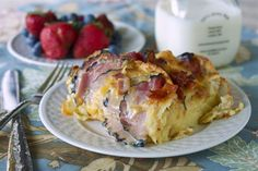 Ham and Cheese Breakfast Bake | My favorite part of this breakfast casserole recipe has to be the French bread.
