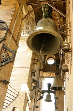 Church Bells Ringing at the Bell Tower( Giralda) at Seville Cathedral, Spain
