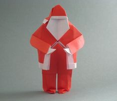 Santa Claus by Steven Casey Diagrams on Origami.com Folded from a square of origami paper