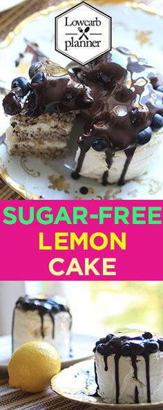 Sugar-Free moist and fluffy lemon layer cake with homemade lemon frosting. Every bite bursts with a fresh lemon flavor! Love it, Like it Share it. Low Carb Sweets, Low Carb Desserts, Sweet Desserts, Healthy Meals For Kids, Healthy Baking, Kids Meals, Sugar Free Lemon Cake, Lemon Layer Cakes, Lemon Frosting