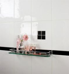 white bathroom tile - Super Relief White Wall Tile