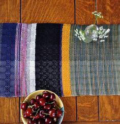 Custom Handwoven Table Runner Woven Tablescape by pidge pidge
