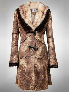 #womens #apparel #outerwear Black Fox Fur Collar Polyester Acrylic Fur Coat For Women