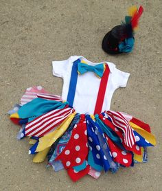 Circus outfit, Clown Outfit - ringmaster tutu - shabby chic outfit, mini top hat, circus birthday
