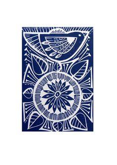 Blue Folk Bird land Flower Original Hand Printed Linocut Print, via Etsy. Stamp Printing, Screen Printing, Linoleum Block Printing, Atelier D Art, Linoprint, Monochrom, Art Graphique, Wood Engraving, Linocut Prints