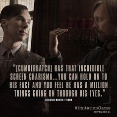 The #ImitationGame Director @mortentyldum on #BenedictCumberbatch playing Alan Turing. pic.twitter.com/wit75xdfDd