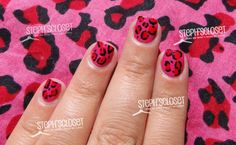 Easy tutorial on doing leopard nail art!! Perfect for taytum!