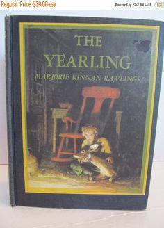 ONE WEEK QUICK Sale: The Yearling by Marjorie Kinnan Rawlings - Vintage 1939 by CellarDeals on Etsy