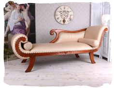 RIESIGES SOFA EMPIRE RECAMIERE CHAISELONGUE MAHAGONI ANTIK STIL | EBay