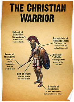 "Christian Warriors | The Christian Warrior"" Posters by Kingofgraphics 