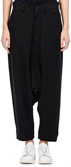Yohji Yamamoto Drop-Rise Trousers - Cropped - Barneys.com