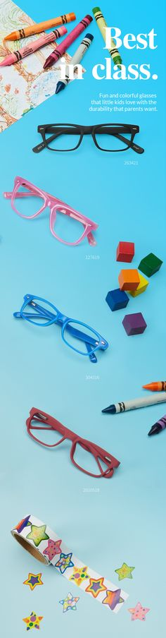 Gear up for the new school year with stylish, affordable eyewear for your little ones.
