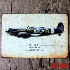 Stinky Air Plane Segunda Guerra Mundial Regalo Carteles de Chapa Pintura Poster…
