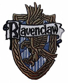 "Harry Potter House of RAVENCLAW Crest 3 1/4"" Tall Embroid..."
