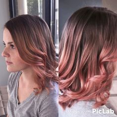 rose gold and blonde ombre hair - Google Search