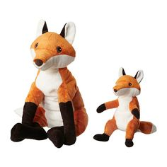 VANDRING RÄV Soft toy, set of 2 IKEA Timeless soft toy that stimulates your child's imagination and encourages a love for nature.