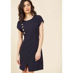 A Novel Lot to Do Mini Dress (€50) ❤ liked on Polyvore featuring dresses, apparel, blue, fashion dress, navy short dress, navy blue short dress, navy dress, blue checkered dress and navy mini dress