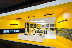 D'art arranges Turck at Hannover Fair 2014 by D'art Design Gruppe, via Behance Exhibition Stall, Exhibition Stand Design, Exhibition Display, Museum Exhibition, Exhibition Ideas, Trade Show Design, Display Design, Art Design, Mobile Shop Design