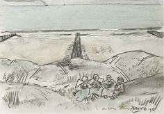 Jan Toorop, Domburg/grens Westkapelle women in the dunes - 1912
