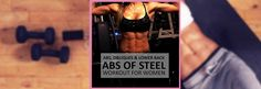 This Abs of Steel workout will push your core to the max, burning belly fat and getting you in sexy shape! Read the post for all the info!