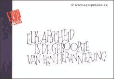 wenskaarten - Symposion: schrijfwinkel, woordenwinkel, wenskaarten, kalligrafie
