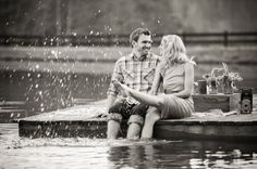lake engagement session
