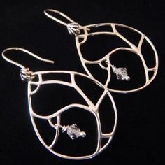Modern Sterling Silver Earrings with Swarovski Crystals!