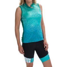 Terry Mandarin Cycling Jersey - Sleeveless (For Women) in Dahlia