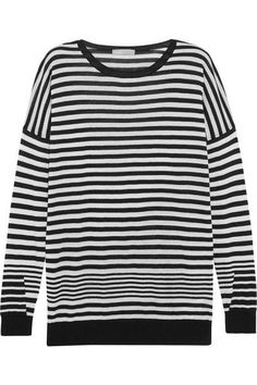 Vince's striped sweater is cut from a luxurious blend of cotton, silk and cashmere. This Breton style has a mid-weight handle and dropped shoulders to enhance its loose fit. Wear yours with cuffed boyfriend jeans.