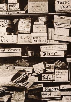 the boxes in joseph cornell's basement.