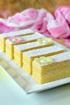 Vaníliakrémes szelet recept
