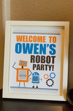 birthday party diy | DIY Robot Birthday Party and Party Printables | Studio DIY®