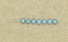 Turquoise Oval Concho Bracelet