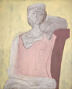 Pablo Picasso. Femme à la robe rose, 1917 Looks like Altina's character chair ...