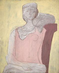 Pablo Picasso. Femme à la robe rose, 1917