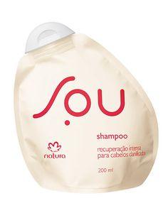 **Shampoo Recuperação Intensa SOU - 200ml** SOU um jeito novo de consumir. Agora, SOU também para seu cabelo. Um shampoo que oferece recuperação de danos causados por processos químicos. Um shampoo bom para você e bom para o planeta. https://www.facebook.com/revendasonlinegoianiagyngo/?fref=ts