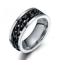 Titanium Ring for Men Spinning Chain Ring for Men