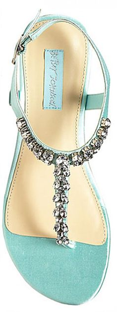 fd3c60349b521b Dress things up with the metallic shine of our Blue by Betsey flat sandals.  Jeweled detail on the thong strap makes every look that much fancier.