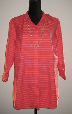 COLDWATER CREEK NO IRON CORAL BUTTON DOWN SHIRT PLUS SIZE 1X 18 | Clothing, Shoes & Accessories, Women's Clothing, Tops & Blouses | eBay!