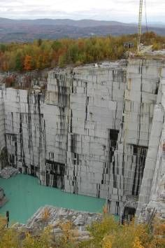 This Stunning View At The Rock Of Ages Granite Quarry