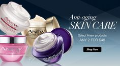 FREE SHIPPING + 3 FREE SAMPLES on all orders over $40, USE CODE TRYME or $5.95 Flat Rate. Anew anti-aging skin care any 2 for $40.#anewproducts #freeshipping
