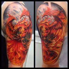 Phoenix braço de tatuagem http://tatuagens247.blogspot.com/2016/08/outlaw-tatuagem-ideias-para-homens.html