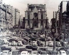 A Catedral da Sé ainda em construção x Como ela é hoje.